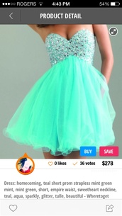 dress,aqua colour,sequinned at the top flowy at the bottom,not to short not to long,similar to the photo shown