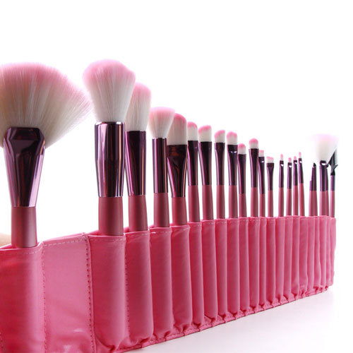 [grxjy5140005]professional pink cosmetic 22pcs makeup brush set with case