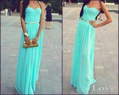 Cheap green sweetheart neckline long prom by lovepromdress on etsy