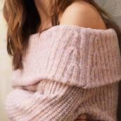 sweater,pink sweater
