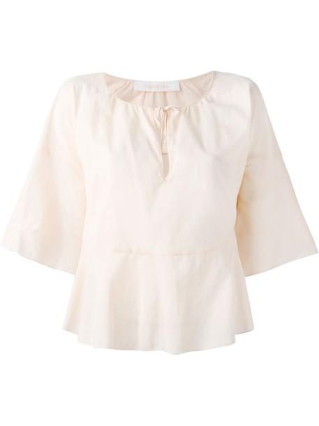 blouse yellow orange top