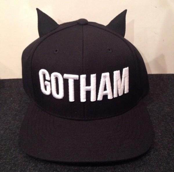 hat cap snapback snapback black ears bat batman goth gotham wings halloween