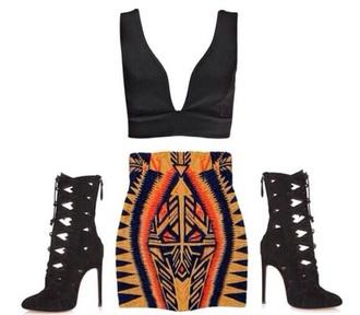 skirt multicolor skirt orange black mini skirt instagram dress black skirt short skirt