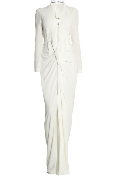 Roland Mouret gown cream dress