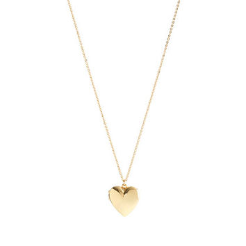 GIRLS' GOLD HEART LOCKET on Wanelo