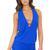 Luli Fama Blue T-Back Mini Dress