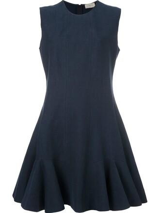 dress mini dress mini pleated blue