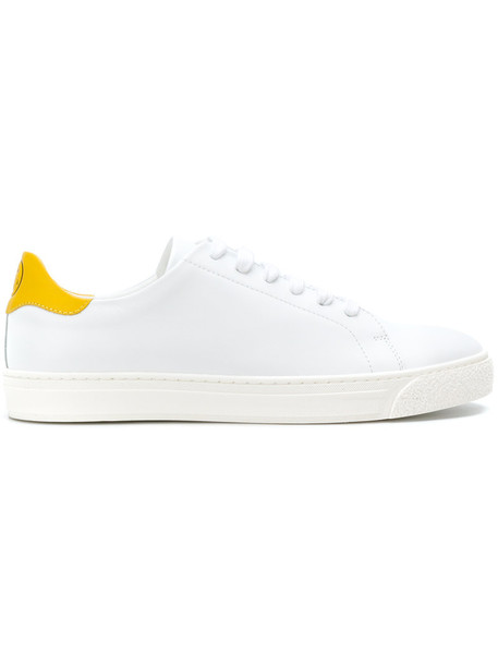 Anya Hindmarch women sneakers low top sneakers leather white shoes