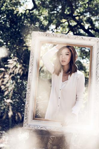 tsangtastic blogger jewels dress white shirt shirt dress