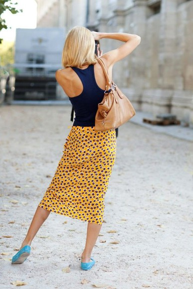 skirt yellow skirt tube skirt