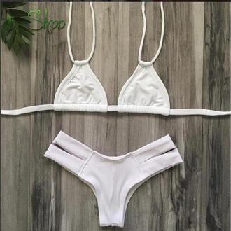 swimwear bikini white white bikini brazilian bikini brazilian bikini set