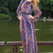 Boutique fashion - purple/brown print dress