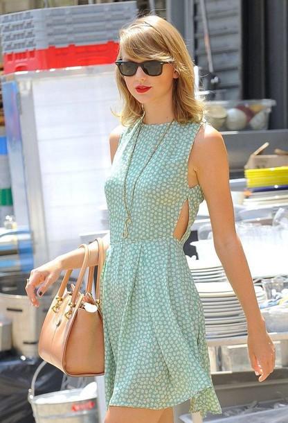 dress taylor swift cut-out dress summer dress