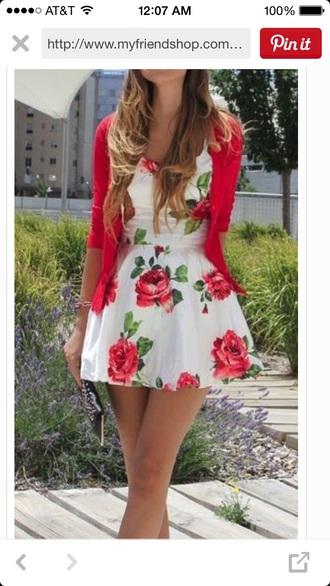dress floral dress red dress