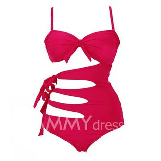 swimwear one piece swimsuit summer outfits rose red red swimwear red swimsuit summer idea