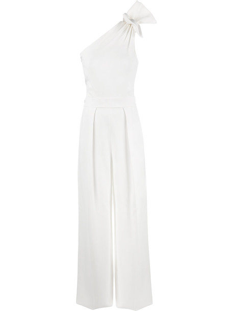 Dsquared2 jumpsuit women spandex white wool