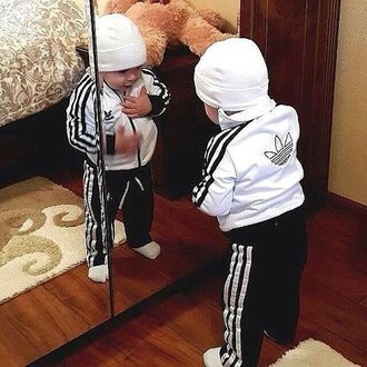 jumpsuit adidas adidas originals kids fashion kids room kids with swag kids sweater tracksuit adidas jacket adidas pants adidas 3 stripes white black black and white