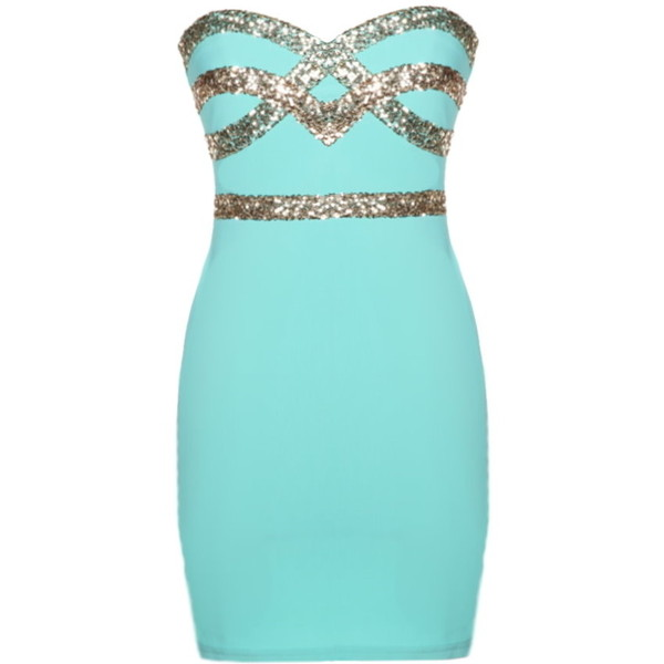 Mint Diamond Dress - Polyvore