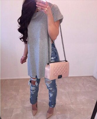 t-shirt shoes bag jeans