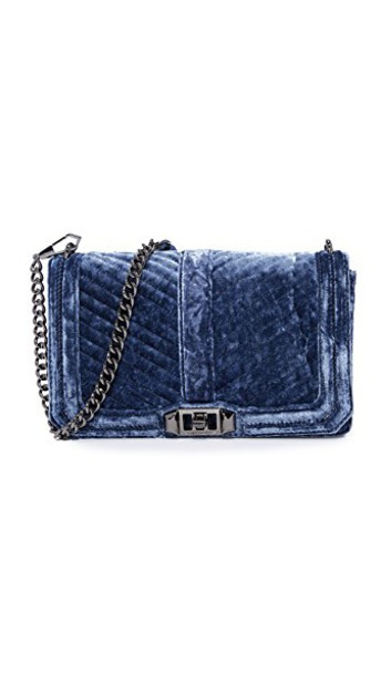 Rebecca Minkoff cross love quilted bag chevron blue