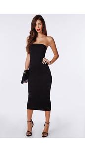 dress,strapless,bodycon,midi,pencil dress