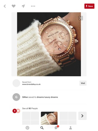 jewels watch rose gold watch michael kors watch