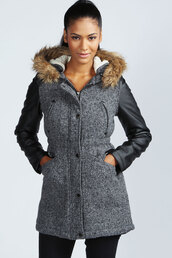coat,boohoo.com,faux fur coat,clothes,outerwear