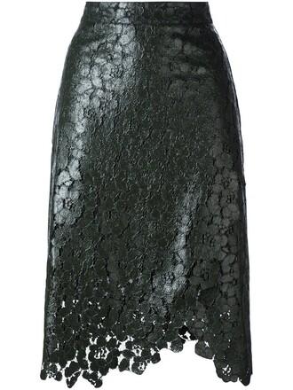 skirt wrap skirt lace green