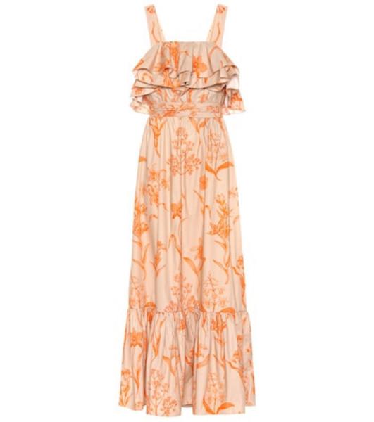 Johanna Ortiz Tropical Waves cotton maxi dress in orange