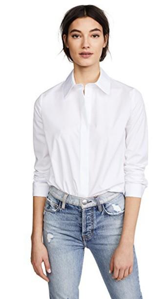 shirt dress shirt long white top