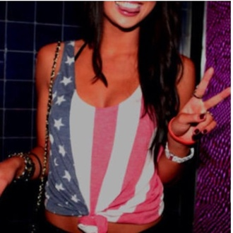 tank top american flag american crop tops red white blue stars stripes