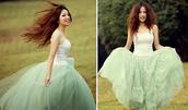 skirt,tulle skirt,petticoat,mint,vinatge,white