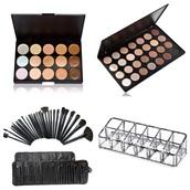 make-up,contour,gorgeous,eyeshadow palette,love,acrylic storage,acrylic,fashion,style,makeup brushes,kim k eyeshadow,contoured,contour cream kit,makeup palette