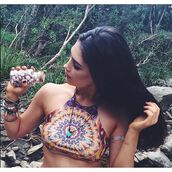 top,liberated heart,festival,psychedelic,crop tops,bohemian,boho,gypsy