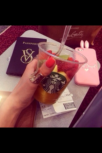 scarf starbucks coffee fruits drink bunny iphone case gold ring passport cover pink jewels