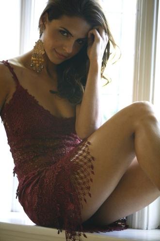 dress laura mennell pattern red dress lace dress lace lingerie lingerie red underwear black dress