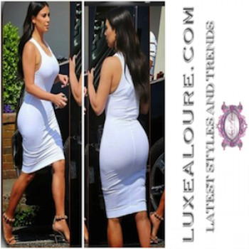 Sleeveless kim kardashian dress