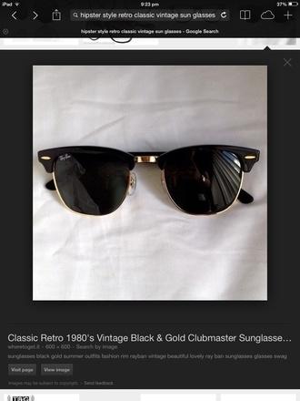 sunglasses rayban vintage hipster