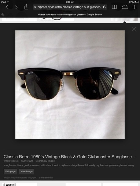sunglasses rayban vintage hipster