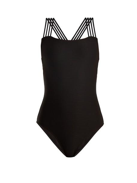 PEPPER & MAYNE cross back black swimwear