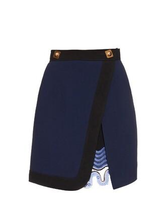 skirt wool navy