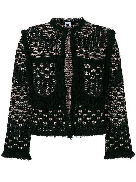 M Missoni jacket metallic women black wool
