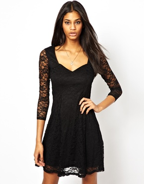 ASOS | ASOS Skater Dress In Flower Lace at ASOS