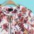 White Florals Print Round Neck Long Sleeve Jacket - Sheinside.com