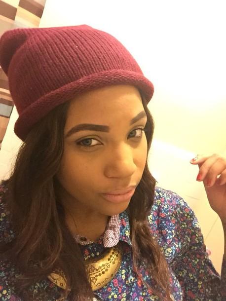 hat burgundy wine hat