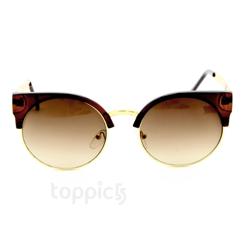 New Alloy Frame Round Circle Eye Cat Unisex Retro Sunglasses 5 Colors Choose | eBay