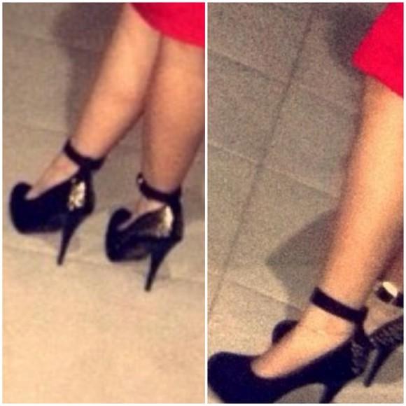 gold gold sequins black shoes high heels strappy heels strappy black heels black high heels