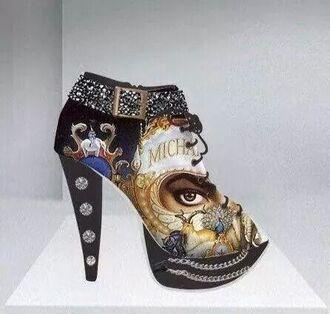 michael jackson booties shoes high heels unique shoes