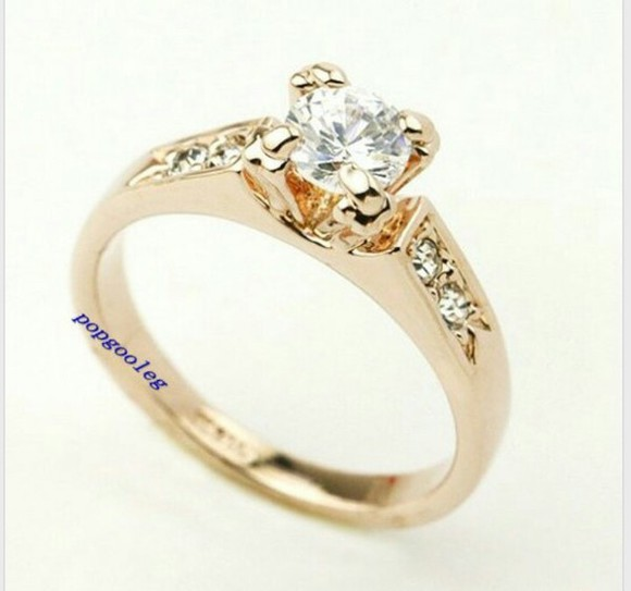 jewels ring engagement ring rose gold