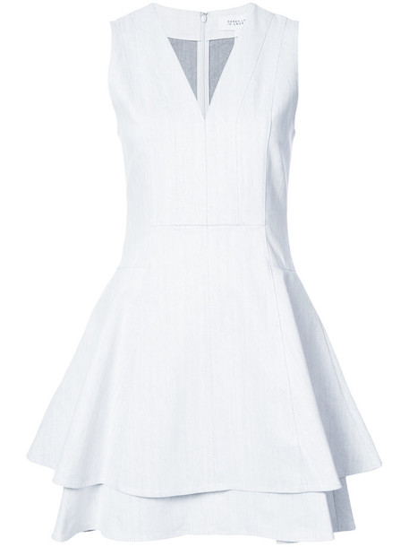 dress flare dress sleeveless flare women spandex fit white cotton